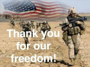 GOD BLESS OUR TROOPS ...
