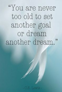 ... the perfect time to set a new goal & have a lot of wonderful dreams
