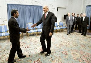 IAEA Director Mohamed ElBaradei meets Iran President Ahmadinejad ...