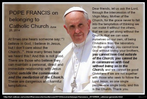 Pope Francis Speaks on Being Outside of the Church