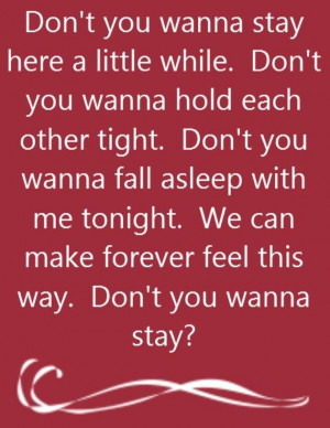 Jason Aldean feat Kelly Clarkson - Don't You Wanna Stay - song lyrics ...