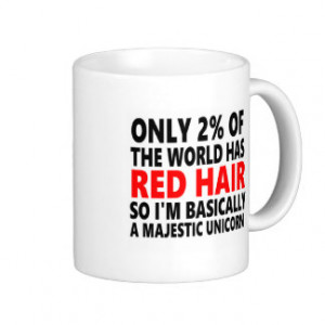 Red Hair Funny Basic White Mug