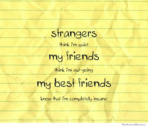strangers think i'm quiet – my friends think i'm outgoing – my ...