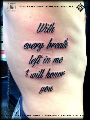 His And Her Tattoo Quotes Quote tattoo by enoki sojuby