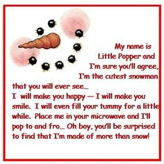 popcorn snowman poem more christmas crafts christmas cheer snowman ...