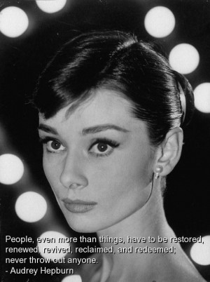 Audrey hepburn quotes sayings wise life people brainy