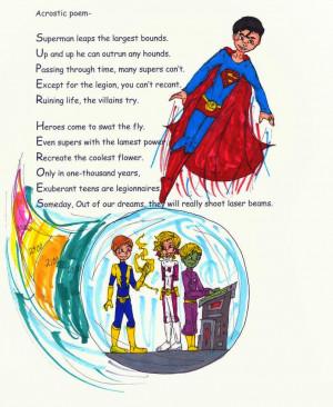 Super Hero Poem by LOSHComixfan