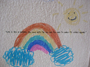 Rainbow cute quotes about love