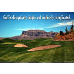 Arnold Palmer Golf Quote Art Print Poster