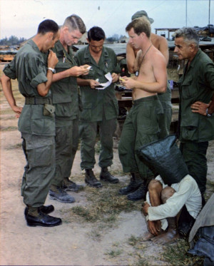 The Vietnam War Photo: Captured Viet Cong