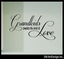 GRANDKIDS QUOTE ART LETTERING VINYL DECAL wall decor 18″ x 7″ love ...