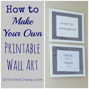How to Make Your Own Printable Wall Art: Tutorial via DIYontheCheap ...