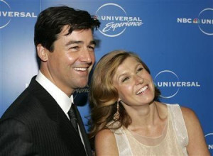 Kyle Chandler (L) poses with co-star Connie Britton of NBC's ''Friday ...