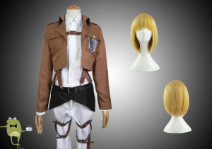 Attack On Titan Armin Arlert Cosplay Costume Wig