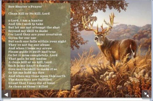 deer hunting poems