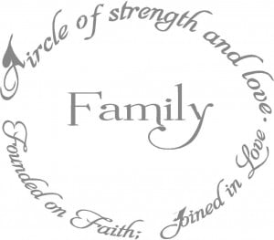 Wall Decals and Stickers - Family circle of love