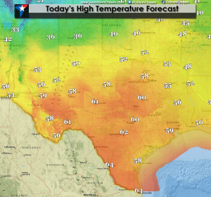 ... Cold Front Arrives Tonight; Freezing Rain Possible on New Years