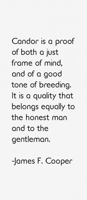 James F Cooper Quotes