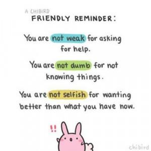 Friendly reminder ☺: