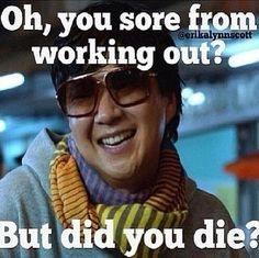 Gym Humor and motivation.Mr Chow says one more rep ! More