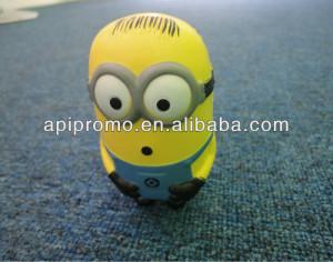 2013 promotional pu soft stress foam toys,Minion stress ball