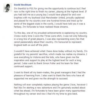 David Beckham: Hats Off To A True Football Legend!
