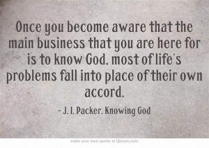 ... blogger and then moving on quickly to the next blogger j i packer