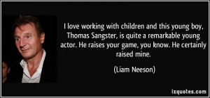 love working with children and this young boy, Thomas Sangster, is ...