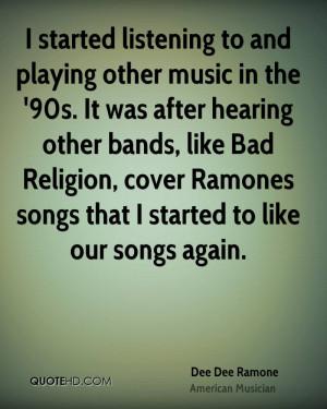 Dee Dee Ramone Religion Quotes