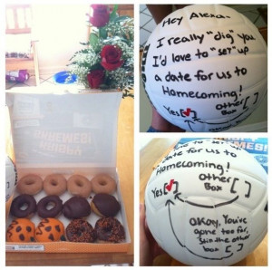 Perfect way to ask a volleyball player to a dance