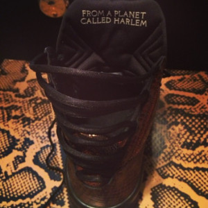 "TEYANA TAYLOR SNEAKER QUOTE ""FROM A PLANET CALLED HARLEM"""
