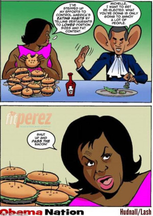 Offensive Political Cartoon Attempts To Make Fun Of Michelle Obama
