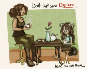 Don't fight your demons by WolfSkullJack