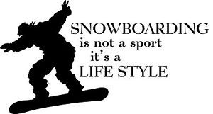 Snowboarding-is-not-a-Sport-vinyl-wall-decal-quote-sticker-decor ...