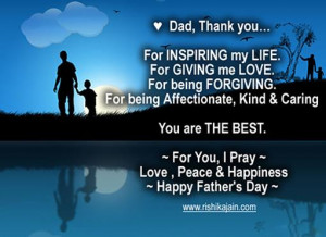 dad thank you for inspiring my life for giving me love for being ...