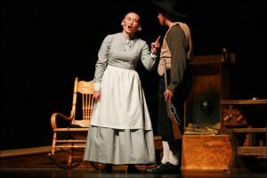 ... as Elizabeth Proctor as senior Alex Ulrey performs as John Proctor