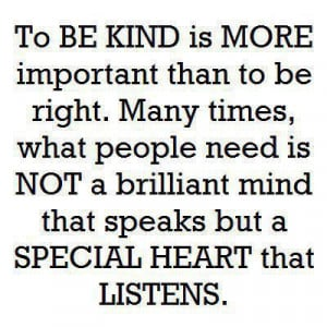 Many Times, What People Need Is A Special Heart That Listens: Quote ...