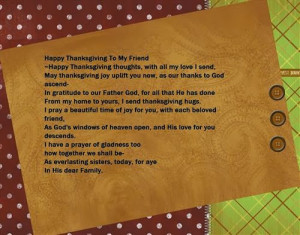 happy thanksgiving to my friend happy thanksgiving thoughts with all