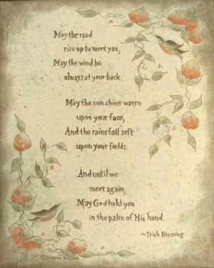 Irish blessing proverb prints - Marriage, Christening, and more