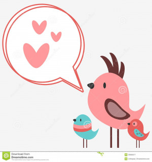Royalty Free Stock Photography: Cute birds singing songs