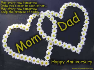 Anniversary quotes for parents, belated anniversary wishes for parents ...