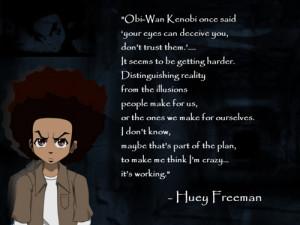 huey boondocks quotes
