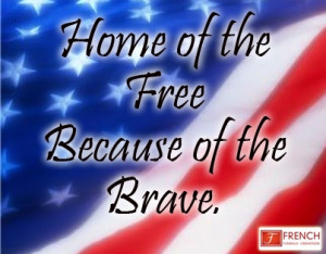 We salute our troops & our veterans.