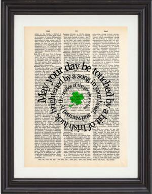 Irish Marriage Quotes Irish blessing, art, print,
