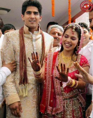 happily married | 11771d1305645275 vijender singh and archana a happy ...