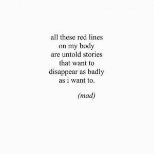 black and white, cuts, depression, quote, sadness, self harm