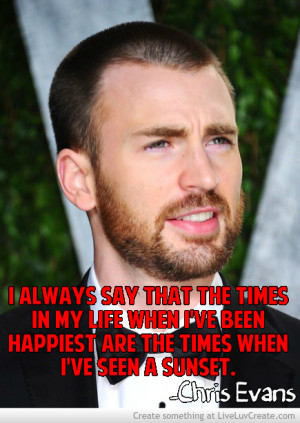 Chris Evans Funny Quotes