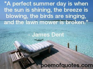picture of the beach with a quotation about summer.