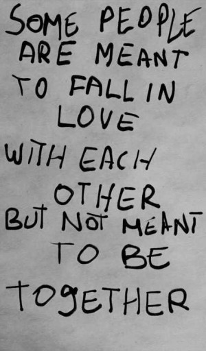 ... are meant to fall in love with each other but not meant to be together