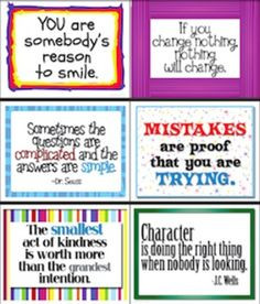 Quotes Classroom Signs/Posters - Great for writing prompts, too.